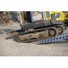 Užvažiavimo rampa H135 2,5m ilgio 340mm pločio, be bortelio